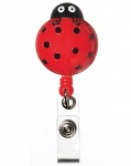 Retractable ID Badge Holder Lady Bug